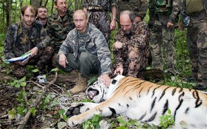One of Putin's favourite things: Taming wild beasts