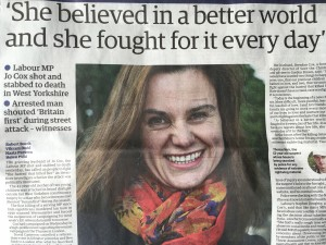 Murder victim Jo Cox on The Guardian cover: A country in shock